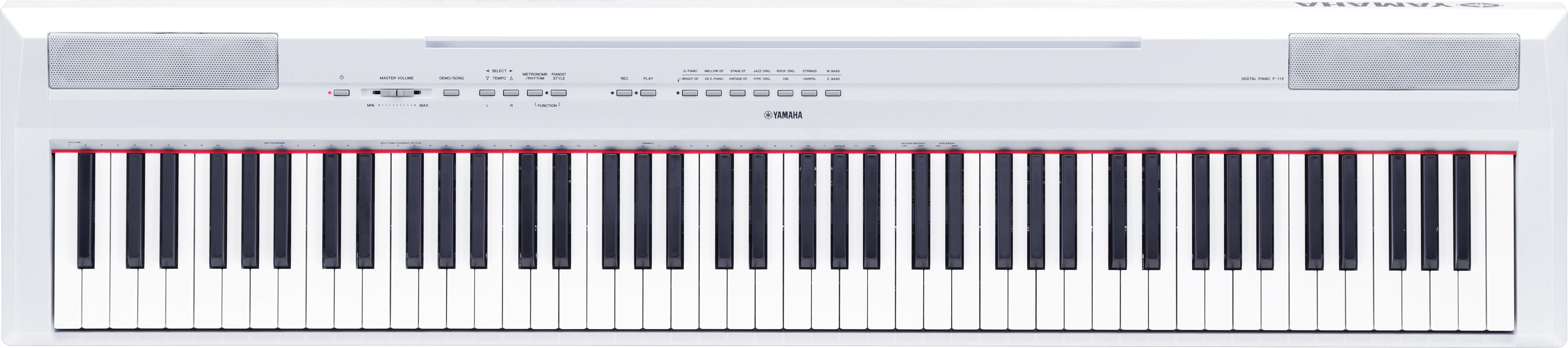 Yamaha P-115WH digitális színpadi zongora