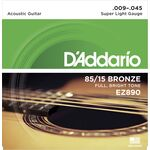 D'Addario EZ890 Bronze Super Light 9-45 akusztikus gitárhúr