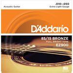 D'Addario EZ900 Bronze Extra Light 10-50 akusztikus gitárhúr