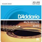 D'Addario EZ910 Bronze Light 11-52 akusztikus gitárhúr