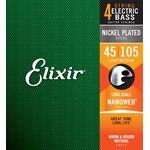 Elixir 14077 NanoWeb Long Scale 45-105 Light/Medium basszus gitárhúr