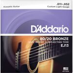 D'Addario EJ13 80/20 Bronze 11-52 akusztikus gitárhúr