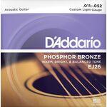 D'Addario EJ26 Phosphor Bronze 11-52 akusztikus gitárhúr