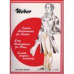 Carl Maria von Weber: Kezdők zongoramuzsikája - kotta