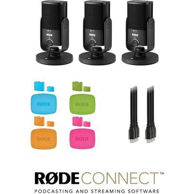 RODE NT-USB Mini USB-C podcast szett 3