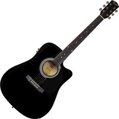 Squier SA-105CE Black elektro-akusztikus gitár