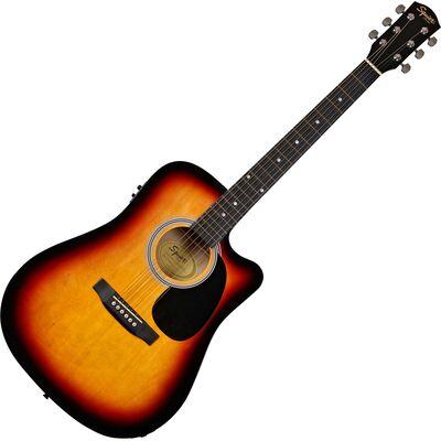 Squier SA-105CE Sunburst elektro-akusztikus gitár